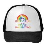 Guarde el unicornio de los arco iris de la calma y gorras