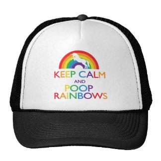 Guarde el unicornio de los arco iris de la calma y gorra