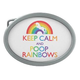 Guarde el unicornio de los arco iris de la calma y hebillas cinturon