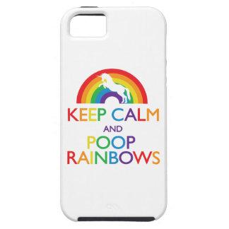 Guarde el unicornio de los arco iris de la calma y iPhone 5 funda
