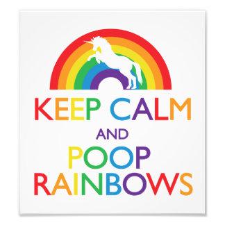 Guarde el unicornio de los arco iris de la calma y fotografías