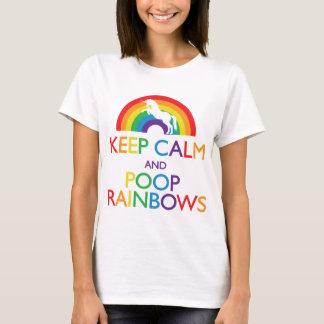 Guarde el unicornio de los arco iris de la calma y playera