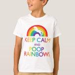 Guarde el unicornio de los arco iris de la calma y remeras
