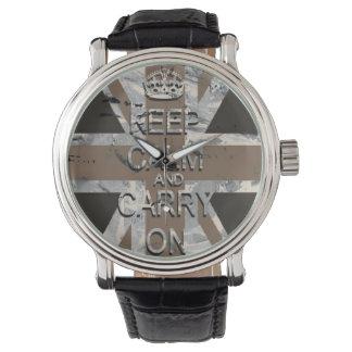 Guarde el vintage tranquilo Union Jack Relojes De Pulsera