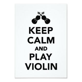 Guarde el violín de la calma y del juego invitación