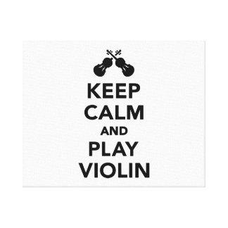 Guarde el violín de la calma y del juego impresión de lienzo