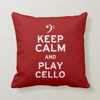 Guarde el violoncelo de la calma y del juego almohada