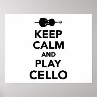 Guarde el violoncelo de la calma y del juego impresiones