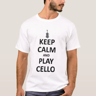 Guarde el violoncelo de la calma y del juego playera