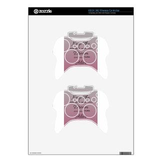 Guarde el vivo ideal - púrpura tipográfico/rosa mando xbox 360 calcomanía