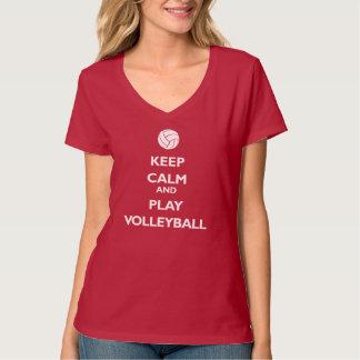 Guarde el voleibol de la calma y del juego playera