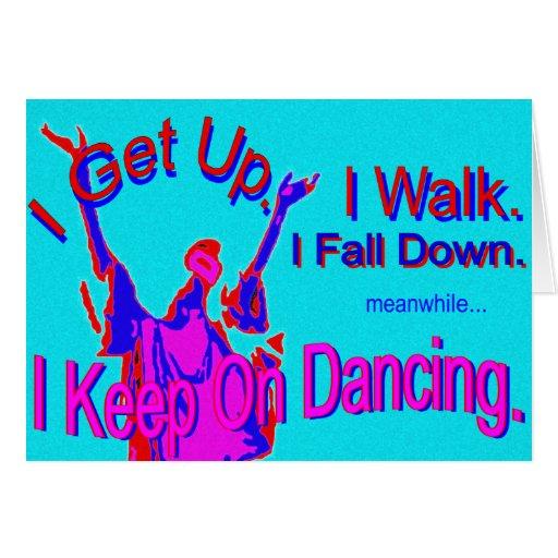 Guarde en el baile, tarjeta