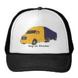 Guarde en el camión de Truckin', en los gorras