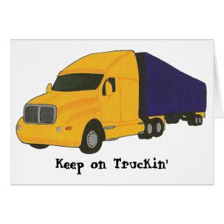 Guarde en el camión de Truckin', en tarjetas de
