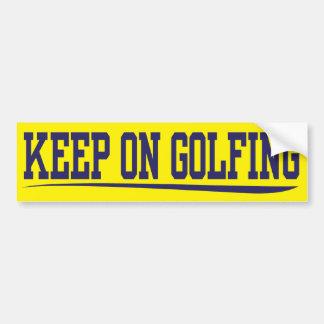 guarde en golfing pegatina de parachoque
