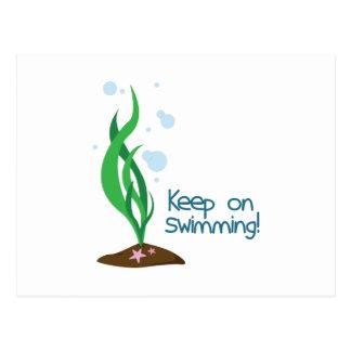 Guarde en la natación tarjetas postales
