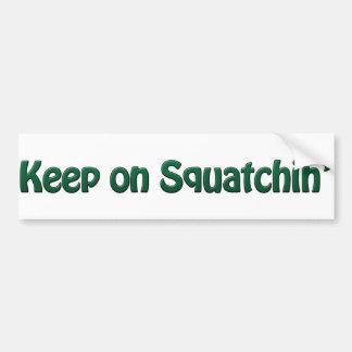 Guarde en la pegatina para el parachoques de Squat Etiqueta De Parachoque