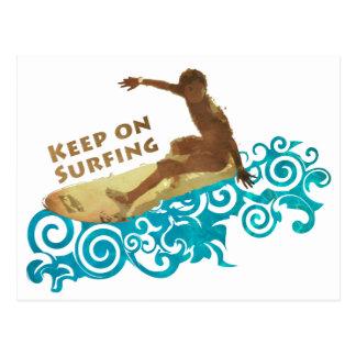Guarde en practicar surf, Grunge y ondas para los  Tarjetas Postales