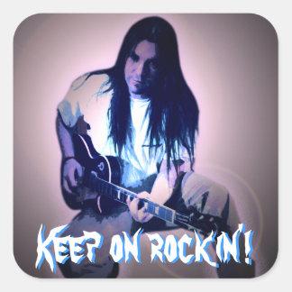 Guarde en rockin'! pegatina cuadrada