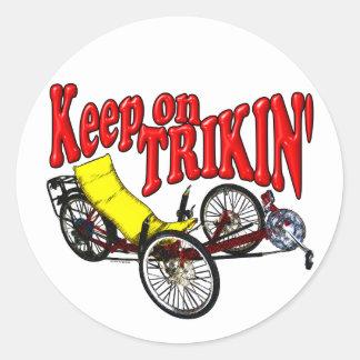Guarde en Trikin Etiqueta Redonda