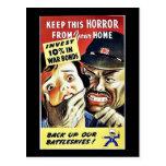 Guarde este horror de su hogar, sostenga nuestro B Postal