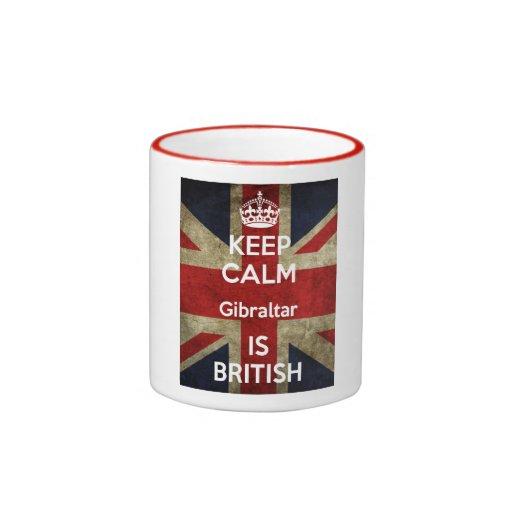 Guarde Gibraltar tranquilo es taza británica