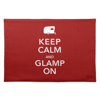 Guarde Glamping tranquilo Placemats Mantel Individual