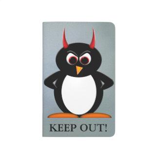 ¡Guarde hacia fuera! Diario malvado de la Cuadernos