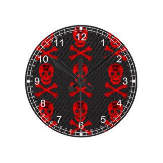 Guarde hacia fuera el cráneo reloj redondo mediano