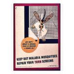 Guarde hacia fuera los mosquitos de malaria repara tarjetón