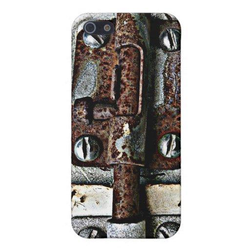 ¡Guarde hacia fuera! Perno oxidado bloqueado del b iPhone 5 Protectores