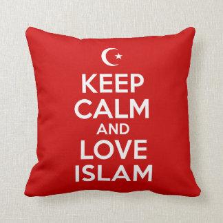 Guarde islámico tranquilo almohada