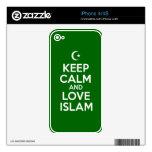 Guarde islámico tranquilo iPhone 4S calcomanías