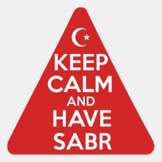 Guarde islámico tranquilo pegatina triangular