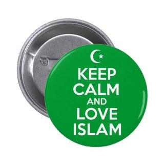 Guarde islámico tranquilo pin redondo de 2 pulgadas