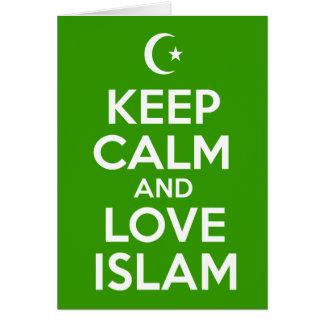 Guarde islámico tranquilo tarjeta de felicitación