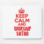 Guarde la adoración tranquila Satan Tapetes De Raton