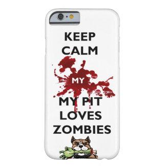 Guarde la almeja mi caso de IPhone de los zombis Funda De iPhone 6 Barely There