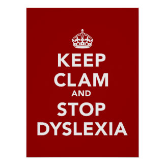 Guarde la almeja y pare la dislexia impresiones