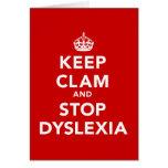 Guarde la almeja y pare la dislexia tarjetas