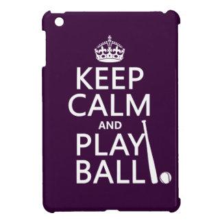 Guarde la bola de la calma y del juego béisbol iPad mini carcasa