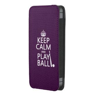 Guarde la bola de la calma y del juego (béisbol) funda acolchada para iPhone