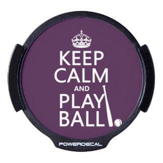 Guarde la bola de la calma y del juego (béisbol) sticker LED para ventana