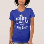 Guarde la bola de la calma y del juego camisetas