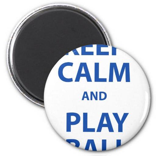 Guarde la bola de la calma y del juego imán redondo 5 cm