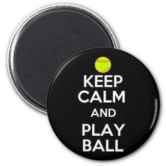 ¡Guarde la bola de la calma y del juego! Imán Redondo 5 Cm