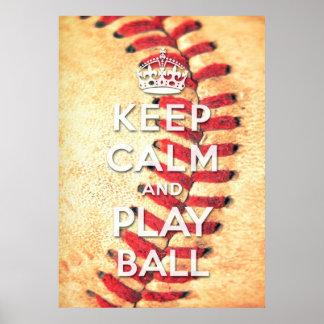 guarde la bola de la calma y del juego póster