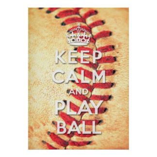 guarde la bola de la calma y del juego posters