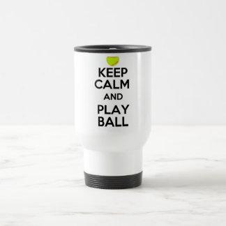 ¡Guarde la bola de la calma y del juego! Taza De Viaje De Acero Inoxidable