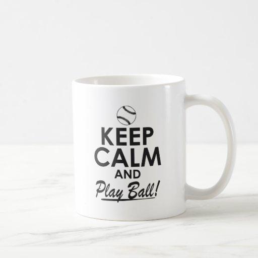 Guarde la bola de la calma y del juego taza de café